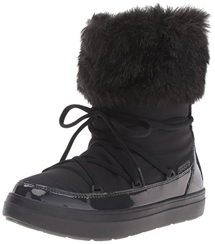 Crocs LodgePoint Lace Boot Women, Damen Schneestiefel, Schwarz (Black), 42/43 EU