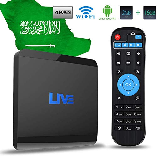 Arabic IPTV Box 4K Android TV Receiver, 1600+ World International Live Channels No Subscription Fee Movies Films News Adults Sports, Indian Brazil Japenese English