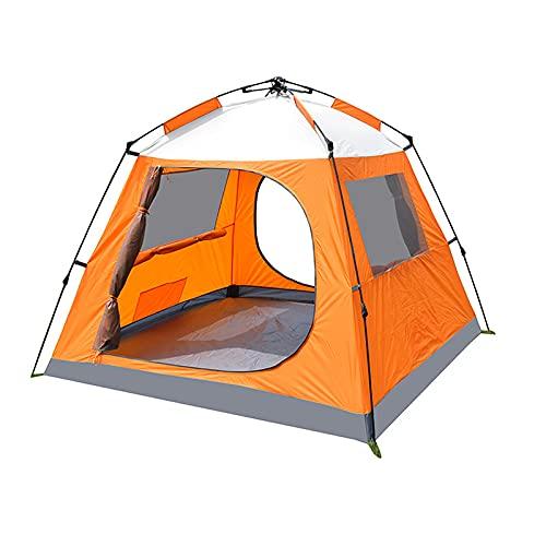 ALQFHFY Strandzelt, Pop up Zelte Familienzelt Riesiges Camping Zelt Doppelwandig Wurfzelt Shelter 3-Mann Zelt mit Vorraum für Outdoor Sport Picknick Wandern Reisen Strand