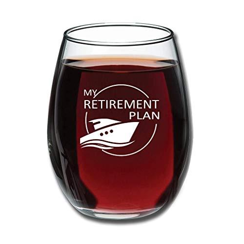 Butterfly Goods 350 ml – Plan de Pensionsplan crucero, grabado permanente para vino tinto, vaso de zumo, buen manual personalizable, decoración para eventos, color blanco, 350 ml