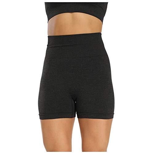 Womens Ruched Butt Lifting Shorts High Waisted Booty Yoga Pants Cut Out Panties Twerking Daisy Dukes Bikini Bottoms Black