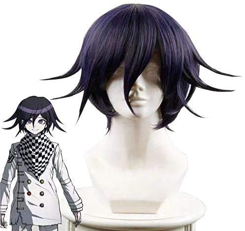 Anime Cosplay Wig for Ouma Kokichi Synthetic Hair Wigs with Free Wig Cap
