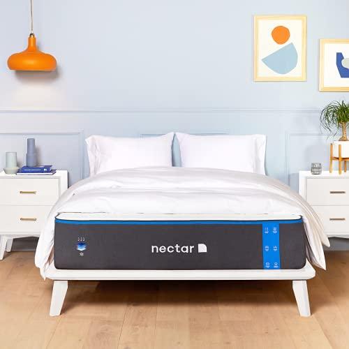 Nectar Queen Mattress - 2 Free Pillows - Gel Memory Foam Mattress - CertiPUR-US Certified Foams - Forever Warranty