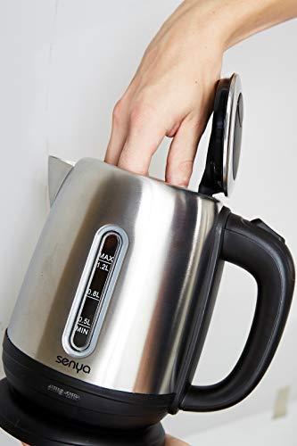 Senya-SYBF-K025N-Wasserkocher-1630-Stainless-Steel-12-liters-Schwarz