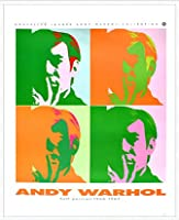 ポスター アンディ ウォーホル セルフポートレート 額装品 アルミ製ハイグレードフレーム(ホワイト)