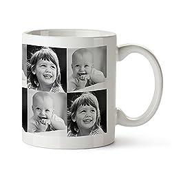 Tassenwerk Kaffeebecher mit Fotodruck – Personalisiert mit [Fotos] – Individuelle Teetasse mit Foto-Collage – Bedruckte Tasse – Keramiktasse als Geschenkidee für Männer und Frauen zum Geburtstag