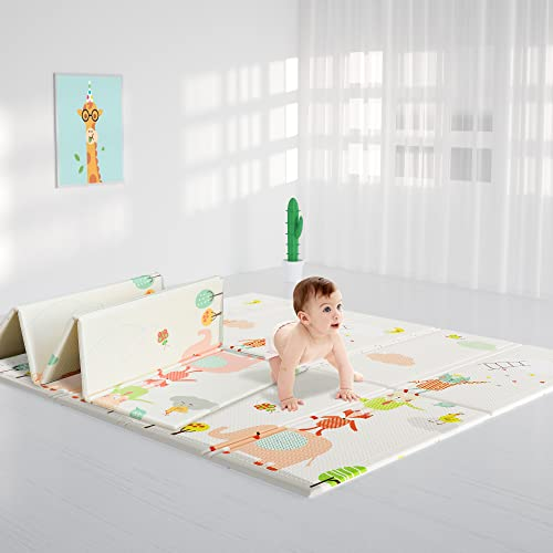 HyperSun Tapis de jeu pour Bébé Surdimensionné imperméable à l'eau portable épais antidérapant pliable en mousse Enfant Tapis d