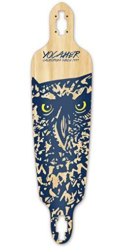 Yocaher Spirit Animal Drop Through Longboard Deck - Owl