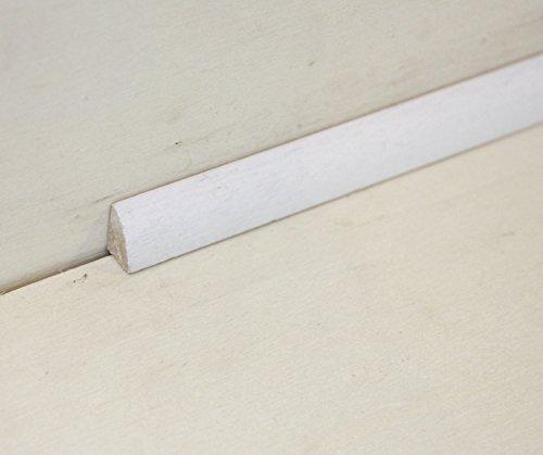 Hobby Legno - Basolino Massello In Legno Laccato Bianco mm. 14X8X2300 (Prezzo Per ml. 13, 80)