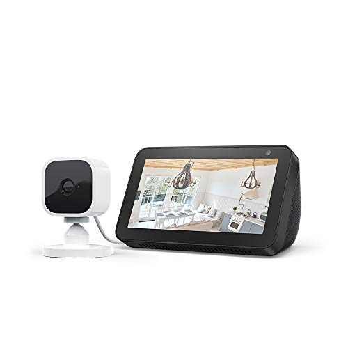 Echo Show 5, Negro + Blink Mini Cámara, compatible con