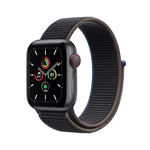 Neu AppleWatch SE (GPS+ Cellular, 40mm) Aluminiumgehäuse Space Grau, Sport Loop Kohlegrau