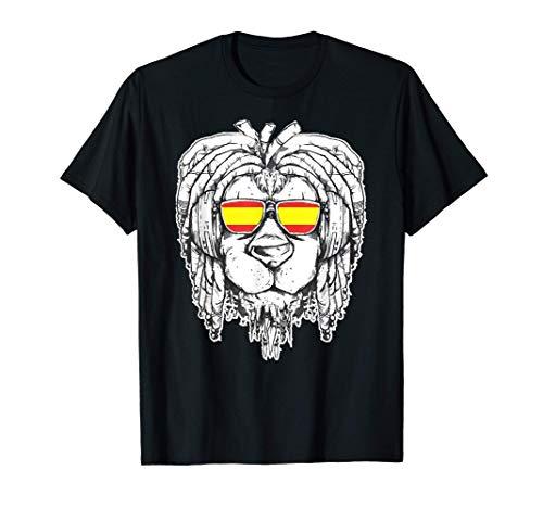 Reggae Lion Rasta Dreadlock Spain Regalo para el amante del Camiseta