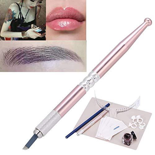 Permanent Augenbraue Tattoo Make up Übungsset, Micro Nadel Pen, Augenbrauen Microblading Pen, Tinte Tassen, Praktische Haut Set, Tattoo Augenbraue Creme, Tattoo Bleistift, Eyebrows Measuring Ruler