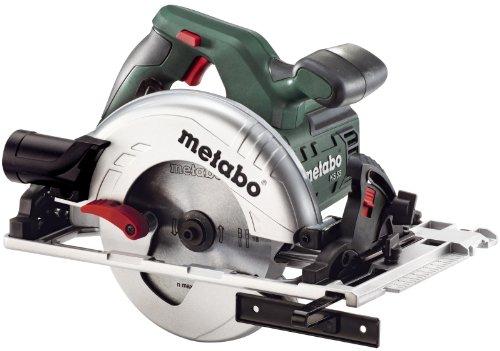 Metabo 600955700 Handcirkelzaag KS 55 F (1200 watt, zaagdiepte 55 millimeter, zaagblad Ø160 millimeter, 18 tanden, softgrip, parallelaanslag, zwenkbereik van 0 tot 45°)