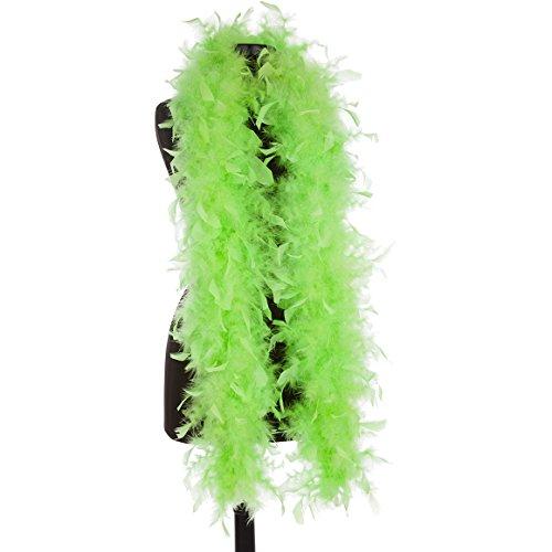 Aqua 65 Gram Chandelle Feather Boas (Lime Green)