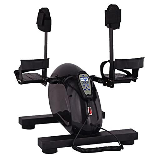 Bicicleta elíptica para debajo del escritorio, ejercitador de pedales, mini máquina elíptica con pedal antideslizante, monitor de pantalla y resistencia ajustable, entrenador de oficina en casa, ven