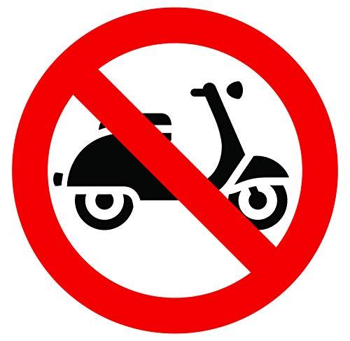 Pegatina autoadhesiva prohibida para scooter, diámetro 20 x 20 cm
