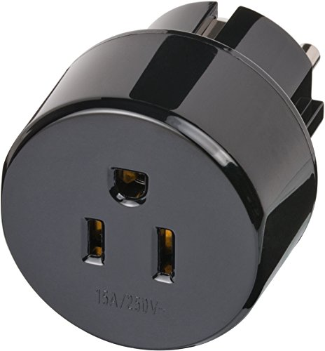 Brennenstuhl reisstekker / reisadapter (reisstekkeradapter voor: Schuko stopcontact en USA & Japan stekker) zwart