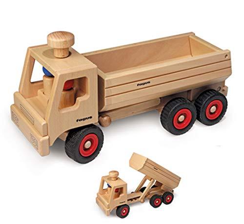 Fagus LKW 3-Achs Muldenkipper aus Holz kippbare Wanne 40 cm