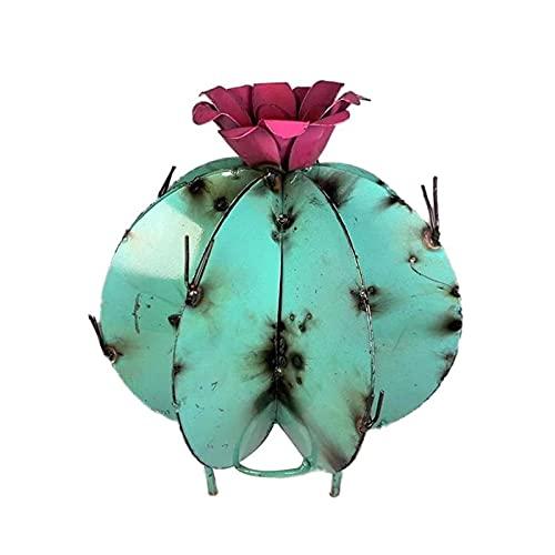 MItrilifi Accessories DIY Metall Kaktus Garten Skulptur Skulptur Metall Pflanze Yard Kunst Rasenornamente für Wohnkultur Jardin Dekoration Exterieure (Color : B, Size : 25x20cm)
