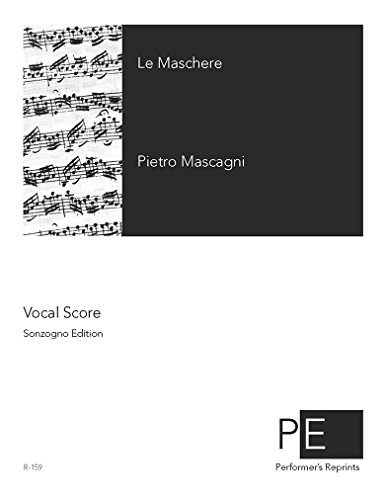 Le maschere - Vocal Score