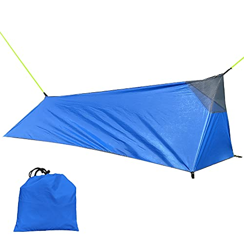 Flytise Tenda per Backpacking Tenda da Campeggio Esterna con Sacco a Pelo Tenda Leggera per Una Persona con zanzariera Tenda Zaino in Spalla