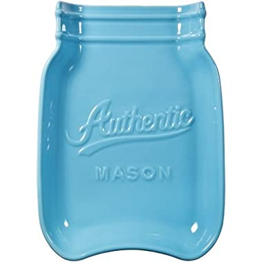 Home Essentials & Beyond 73632 Mason Jar Spoon Rest, Aqua by Home Essentials & Beyond