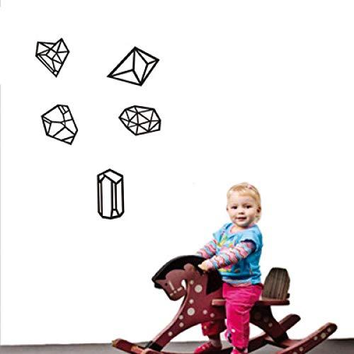 JXLLCD muursticker kubus serie Origami 55 x 80 cm