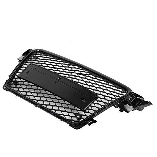 Aishengjia para Rs4 Style Front Sport Hex Mesh Honeycomb Hood Grill Negro Brillante Ajuste para Audi A4 / S4 B8 2009 2010 2011 2012 Accesorios para AutomóViles