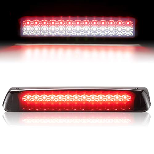 Third Brake Light/Reverse Light Smoked Compatible with 2004-2008 Ford F150, 2007-2010 Ford Explorer Sport Trac, 2006-2008 Lincoln Mark LT, 2004-2008 Ford Lobo, High Mount Stop Tail Light Assembly