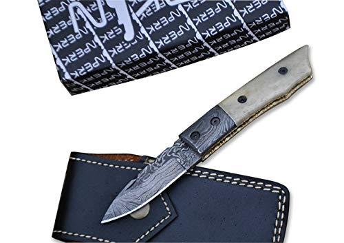 Perkin Klappmesser/Taschenmesser mit Damast-Klinge, Handgefertigt