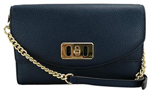 Michael Kors Karson Crossbody Umhängetasche Handtasche Leder, Blau - marineblau - Größe: Small