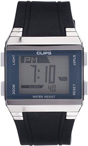 Clips 539-6003-94 - Reloj de Pulsera para Hombres, Color Negro