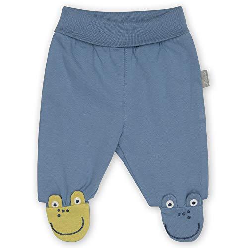 Sigikid Baby-Jungen Classic Hose aus Bio-Baumwolle für Kinder, Blau/Frosch, 56