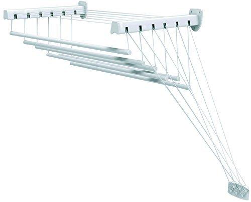 GIMI Lift 140 Secadora de ropa de pared y techo de acero, 8,5 m de longitud de secado de Gimi