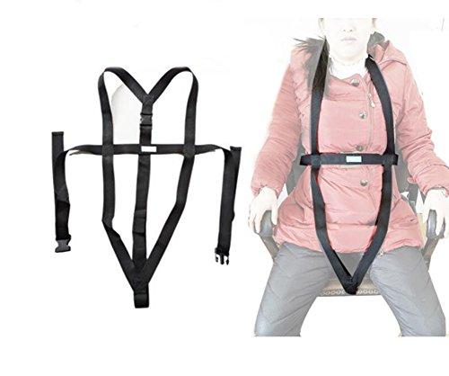 XYLUCKY Torso Support Selbstlösender Rollstuhl-Positionierungsgurt Und Verstellbarer Schultergurt - Verhindern Das Vorwärtsgleiten des Patienten