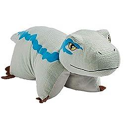 "2. Pillow Pets Jurassic World Blue Velociraptor 16"" Dinosaur Plush"