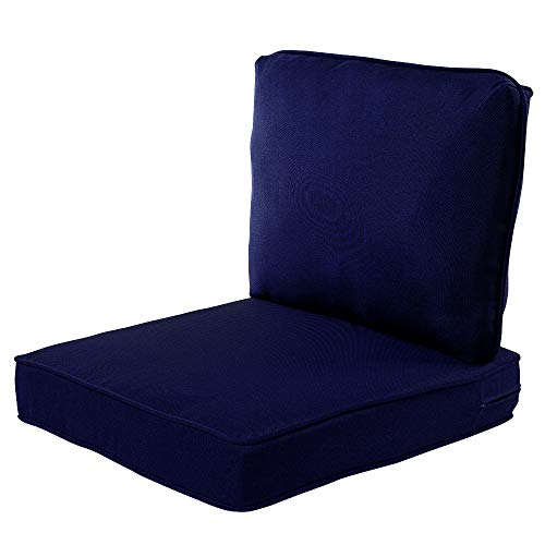 Quality Outdoor Living 29-NV04SB All-Weather Deep Seating Chair Cushion, 23 x 26 (Pack of 2), Navy
