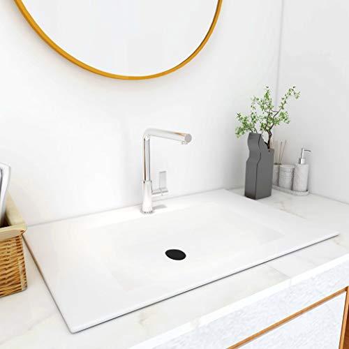 Waschtisch Waschbecken Waschtisch Waschtisch Waschtisch Waschbecken Waschbecken Waschbecken Einbauwaschbecken 750x460x130mm SMC Weiß