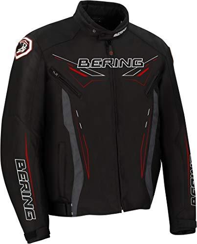BERING Chaqueta moto ZEBU Negro, Negro, XL
