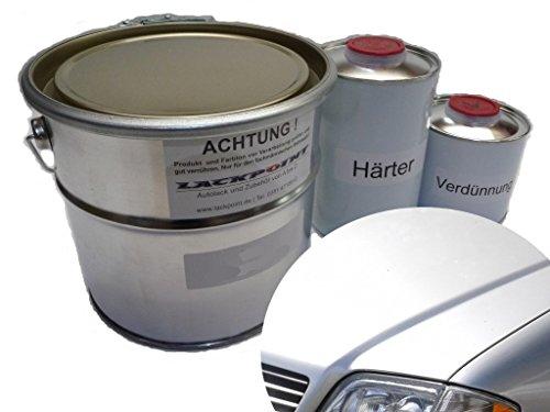 Lackpoint 1 Liter Set 2K Autolack Mercedes 744 Silber Metallic kein Klarlack