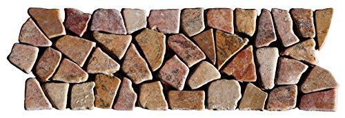 BO-332 Marmor Mosaikfliesen Bordüre Naturstein Fliesen Lager Verkauf Stein-Mosaik Herne NRW