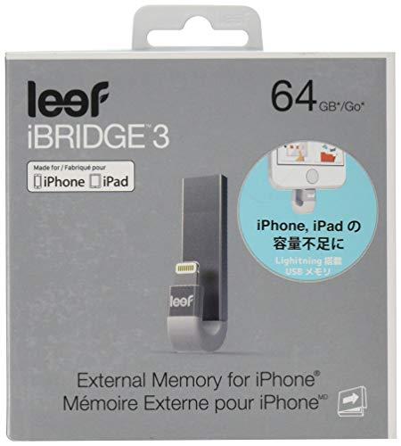"Leef LIB300SW064A1 \""iBridge 3\"" 64GB Externer IOS Speicher für Apple iPhone / iPad silber"