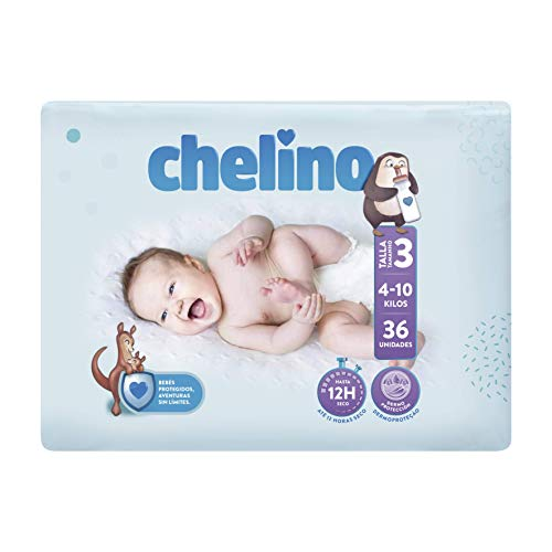 Chelino Fashion & Love, Talla 3, 36 pañales