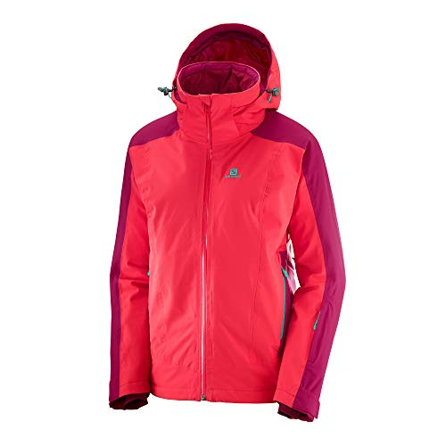 SALOMON Women's Brilliant JACKET, Hibiscus/Cerise, Small