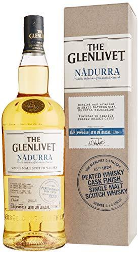 Glenlivet Nadurra Peated Cask Finish Whisky mit Geschenkverpackung (1 x 1 l)