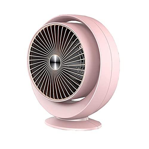 JHTD Ventilador eléctrico en casa, Mini Calentador de Ventilador eléctrico con Calor rápido, Calentador portátil para habitación, Oscilación hacia Arriba y hacia Abajo, sobre Calor