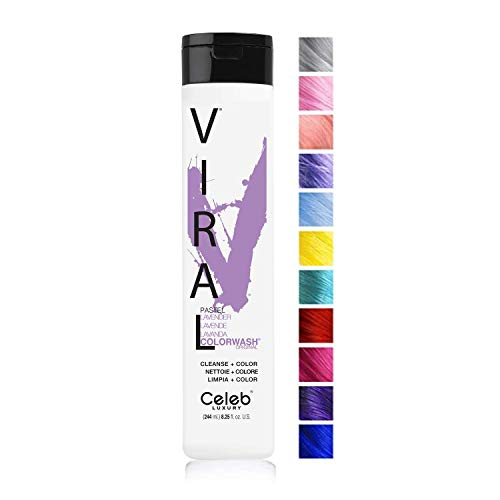 Celeb Luxury Viral Colorwash, Professional Semi-Permanent Hair Color Depositing Shampoo, Pastel Lavender
