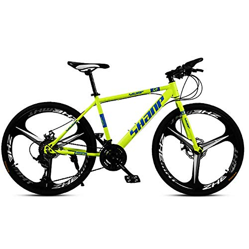 Caiyan Bicycle,High-Speed Mountain Bike 26 Inches,27-Speed Dual Disc Brake Bicycle,for Off-Road,Mountain,Adult Riding,Yellow