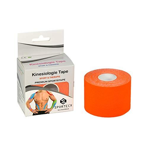 SPORTECX Kinesiologie Tape | Premium Sporttape für Sport & Therapie | Wasserfest & extra langer halt | Kinesio Tape für die Unterstützung der Muskel und Gelenke